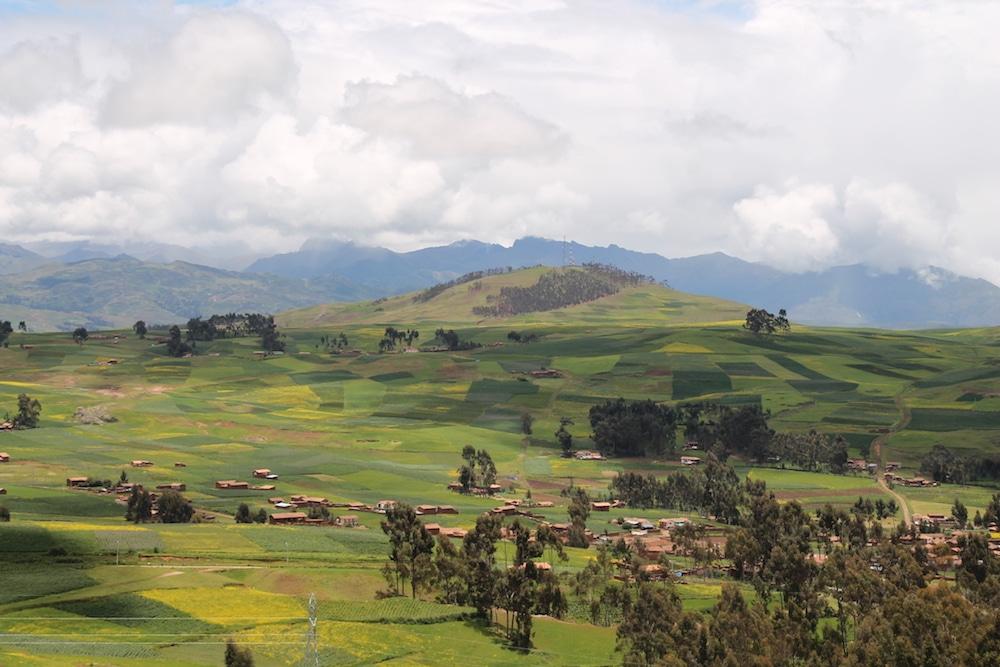 Das heilige Tal in der Regenzeit