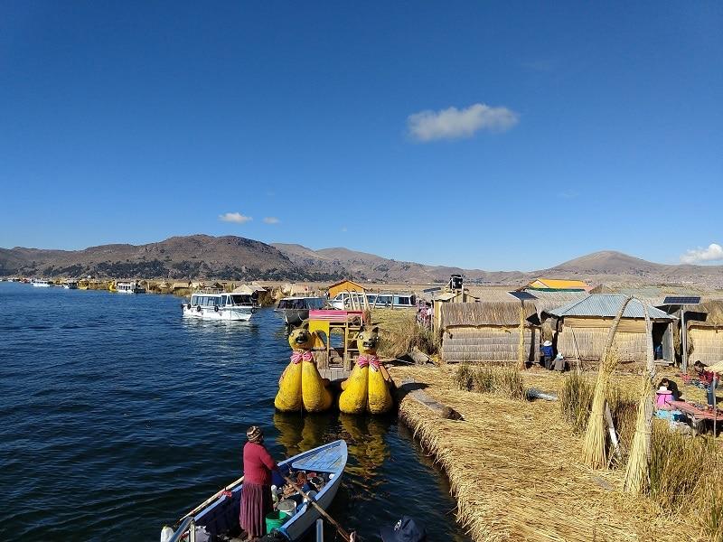 Titicacasee in Peru
