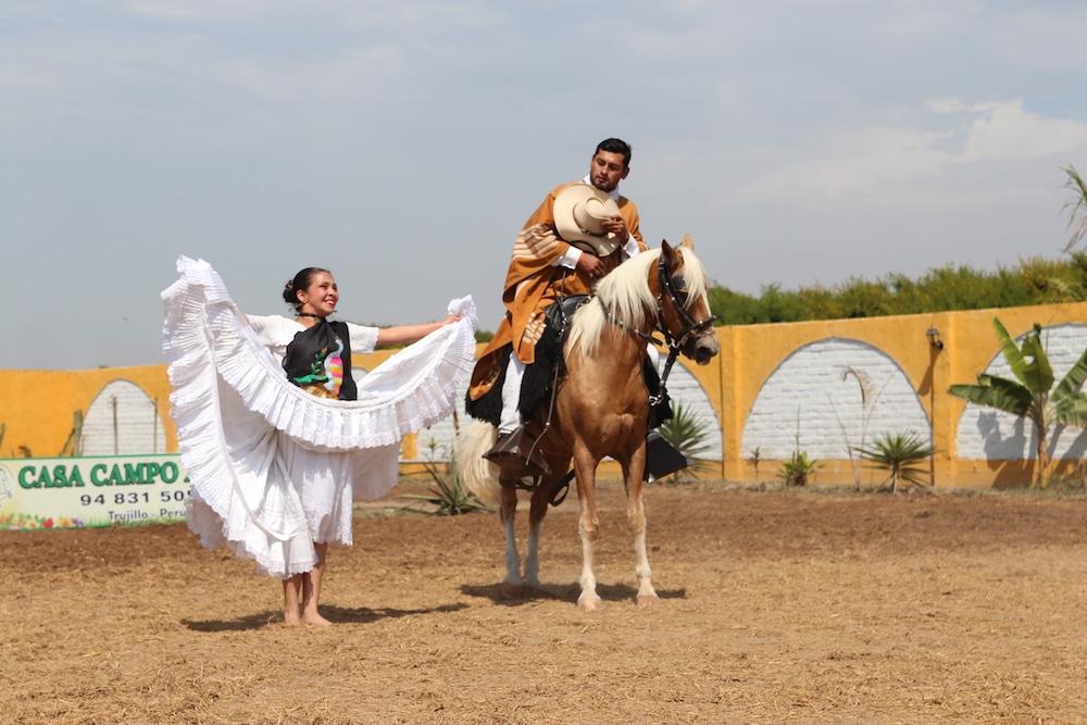 Marinera Tanz und Caballo de Paso