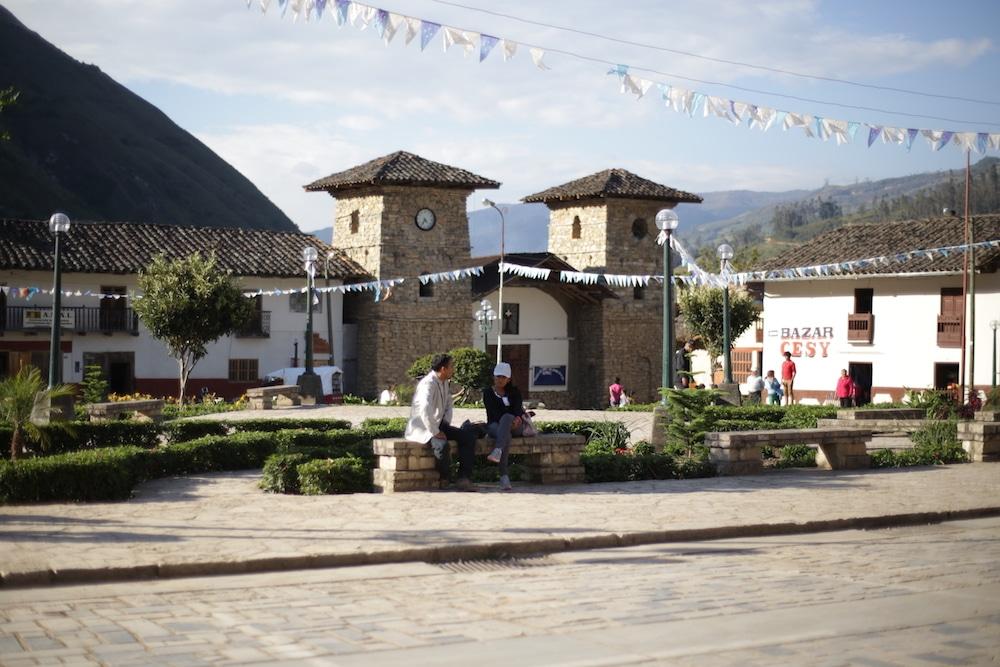 Dorfplatz in Leymebamba