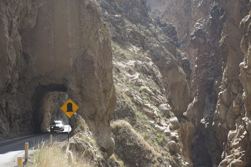 Tunnel in Peru
