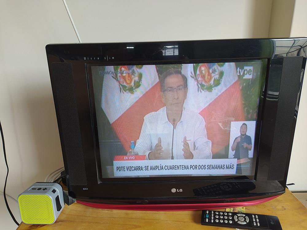 Vizcarra im Fernsehen