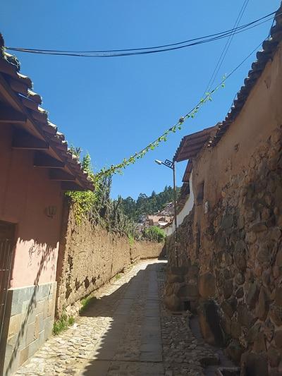 Leere Gasse in Cusco