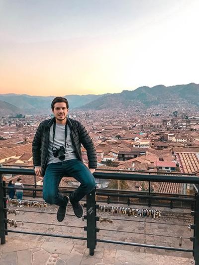 Oliver während einer Reise nach Cusco